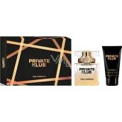 Karl Lagerfeld Private Klub for Women toaletní voda pro ženy 45 ml + tělové mléko 100 ml, dárková sada