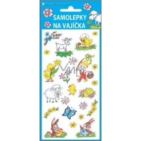 Samolepky na vajíčka gelové tradiční motivy chlapec s pomlázkou 19 x 9 cm
