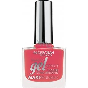 Deborah Milano Gel Effect Nail Enamel gelový lak na nehty 32 Coral 11 ml