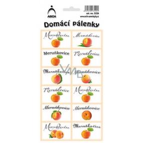Arch Samolepky Domácí pálenky Meruňkovice 3524 12 etiket