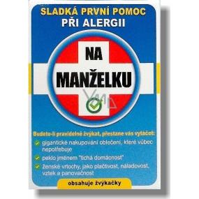 Nekupto Sladká první pomoc 2 Ovocné žvýkačky při alergii Na manželku 10 ks 002