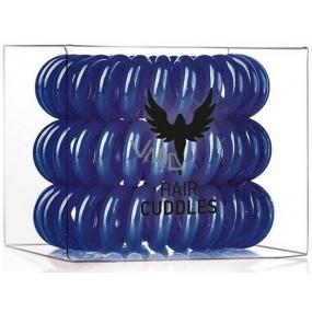 HH Simonsen Hair Cuddles Dark Blue gumičky do vlasů tmavě modré 3 kusy