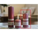 Lima Krajka svíčka starorůžová válec 60 x 150 mm 1 kus