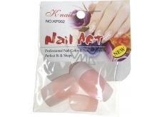 Natural Art Nails umělé nehty rovné francouzská manikúra růžová 10 kusů 806