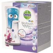 Dettol Kids s Aloe Vera Dobrodruh bezdotykový dávkovač mýdla a náplň s mýdlem 250 ml
