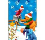 Ditipo Disney Dárková papírová taška pro děti L Medvídek Pú dárek ve schránce 26,4 x 12 x 32,4 cm