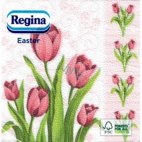Regina Velikonoční papírové ubrousky Tulipány 1 vrstvé 33 x 33 cm 20 kusů