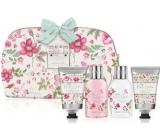 Baylis & Harding Královská zahrada sprchový krém 100 ml + šampon 100 ml + tělové mléko 50 ml + kondicionér 50 ml + omyvatelná kosmetická taštička na zip s květinovými motivy, kosmetická sada