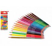 Colorino Pastelky trojhranné, oboustranné 24 barev