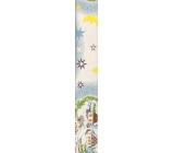 Nekupto Vánoční balící papír Chaloupka a měsíc světle modrý 2 x 0,7 m 1 role