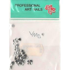 Professional Art Nails ozdoby na nehty kamínky srdíčka stříbrné 1 balení