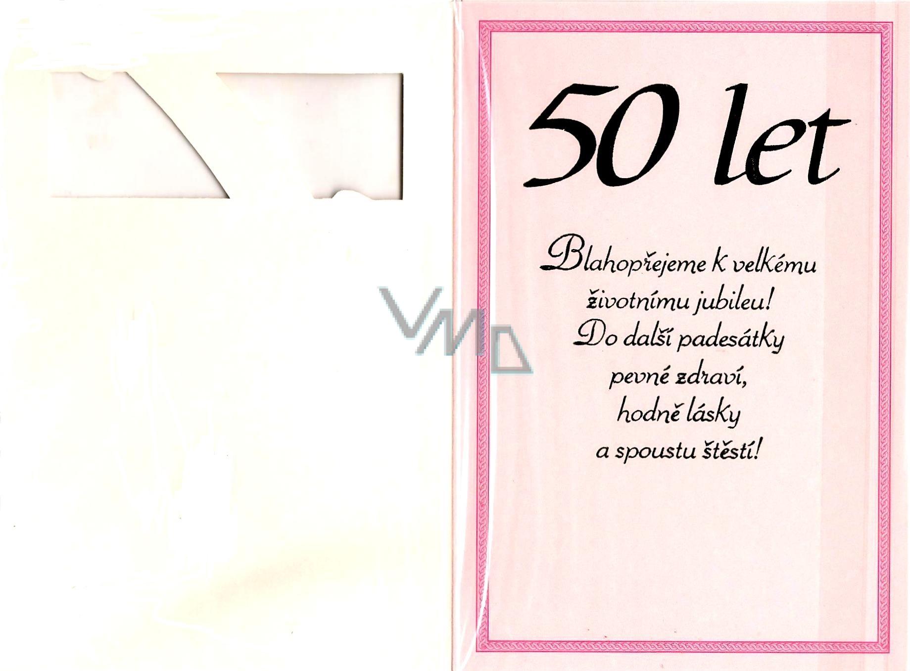 přání k 50 tým narozeninám Nekupto Přání k narozeninám 50 let   VMD drogerie přání k 50 tým narozeninám