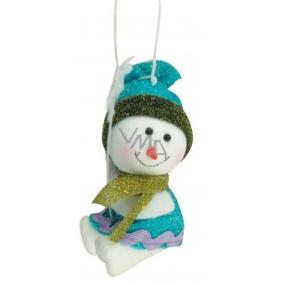 Sněhulák pestré barvy se šáou 9cm