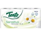 Tento Sensitive Camomile + vitamín E/Sensitive Pure parfémovaný toaletní papír 3vrstvý 8 rolí