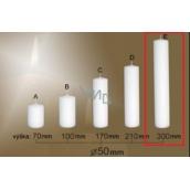 Lima Gastro hladká svíčka bílá válec 50 x 300 mm 1 kus