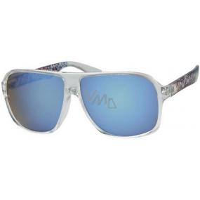 Nac New Age Sluneční brýle průhledná obruba modrá skla A40195