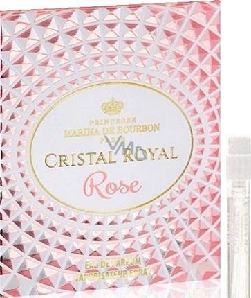 Marina de Bourbon Cristal Royal Rose parfémovaná voda pro ženy 1 ml s rozprašovačem, Vialka