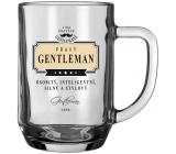 Nekupto Liga Pravých Gentlemanů Pivní sklenice Pravý Gentleman- osobitý, inteligentní, silný a stylový 14,5 x 13 x 10 cm