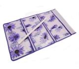 Kapsář na zavěšení fialový 59 x 36 cm 9 kapes 715