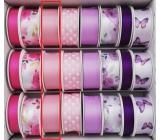 Ditipo Stuha vázací saténová růžová světlá 3 m x 25 mm
