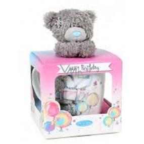 Me to You Hrneček s plyšovým medvídkem Happy Birthday - Všechno nejlepší 300 ml
