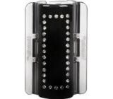 Linziclip Maxi Vlasový skřipec černý s krystalky 8 cm vhodný pro hustší vlasy 1 kus