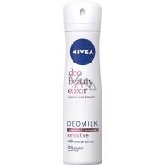 Nivea Deo Beauty Elixir Deomilk Sensitive antiperspirant deodorant sprej pro ženy 150 ml
