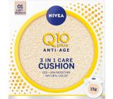 Nivea Q10 Plus Anti-Age Cushion 3v1 pečující tónovací krém v houbičce 01 Light Medium 15 g