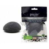 Purity Plus Charcoal odličovací houbička Konjac s aktivním uhlím 1 kus