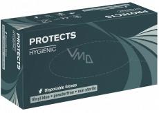 Sempermed Protects Hygienic Vinyl blue Rukavice jednorázové, bez pudru, modré, vinylové, velikost XL, box 90 kusů