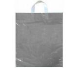 Press Igelitová taška 36 x 45 cm s uchem Stříbrná