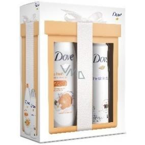 Dove Revitalize Go Fresh Revitalize Mandarinka sprchový gel vyživující 250 ml + Invisible Dry antiperspitant deodorant sprej 150 ml, kosmetická sada
