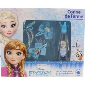 Corine De Farme Frozen toaletní voda pro dívky 30 ml + 2 sponky + prstýnek + náramek, dárková sada