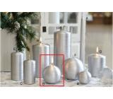 Lima Alfa svíčka stříbrná koule 80 mm 1 kus