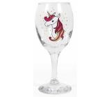 Albi Můj Bar Sklenka na víno glitter Jednorožec 220 ml