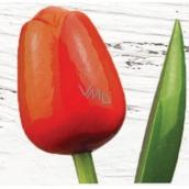 Bohemia Gifts Dřevěný tulipán oranžovo-červený 34 cm