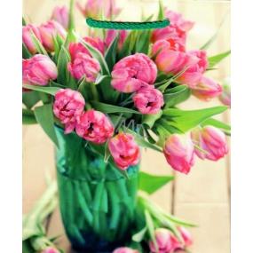 Nekupto Dárková papírová taška střední 19 x 23 x 10 cm Tulipány 1680 01 KFM