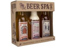 Bohemia Gifts & Cosmetics Beer Spa Premium s extrakty z pivních kvasnic a chmele sprchový gel 200 ml + šampon na vlasy 200 ml + koupelová pěna 200 ml, kosmetická sada