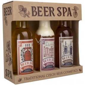 Bohemia Gifts Beer Spa Premium s extrakty z pivních kvasnic a chmele sprchový gel 200 ml + šampon na vlasy 200 ml + koupelová pěna 200 ml, kosmetická sada