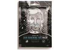 Barber Pro Pleťová maska obnovující se zahřívací fólií s obsahem kyseliny hyaluronové a koenzymu Q10 pro muže 25 ml