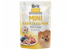 Brit Care Mini Rabbit & Salmon Fillets In Gravy kompletní superprémiové krmivo pro dospělé psy mini plemen kapsička 85 g