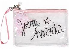 Albi Duhová kosmetická taška Jsem hvězda 22 x 15 cm