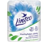 Linteo Strong & Absorbent papírové kuchyňské utěrky s potiskem 2 vrstvé 2 kusy