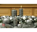 Lima Galaxy svíčka šedá koule 100 mm 1 kus