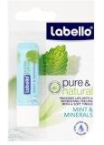Labello Pure & Natural Mint & Minerals balzám na rty s chladivým osvěžením 5,5 g