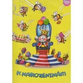 Albi Hrací přání do obálky K narozeninám Včelka Mája Karel Gott 14,8 x 21 cm