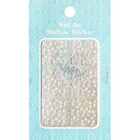 Nail Accessory Hollow Sticker šablonky na nehty 129 multibarevné květ 1 aršík