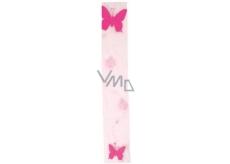 Dekorační stuha 03 růžová šířka 7,5 cm, délka 2 m