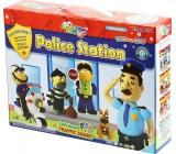 Jumping Clay Město - Policejní stanice samoschnoucí modelovací hmota pro děti 5+