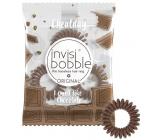 Invisibobble Original Cheatday Crazy For Chocolate Gumička do vlasů hnědá s vůní tmavé čokolády 3 kusy